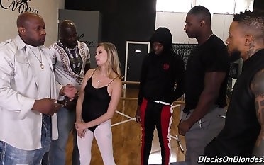 Carolina Sweets gets pulverized toughly by crazy ebony studs