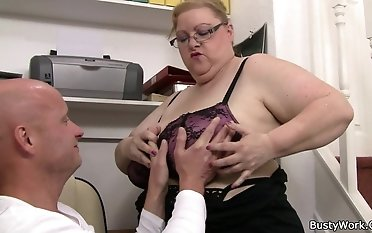 Yam-sized milk cans damsel works rock hard on his man sausage