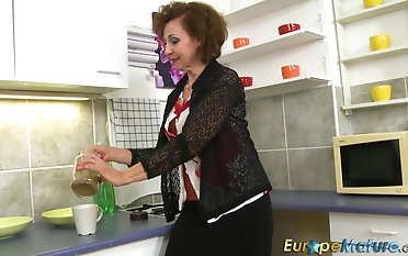 Compilation crazy euro mature girls seized draining