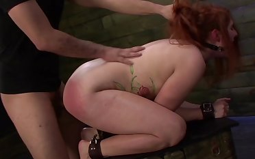 Big exasperation redhead haunted and fucked surrounding stony XXX