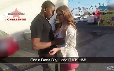 Picked up Puerto Rican nerdy nympho Skylar Snow gives a good current blowjob