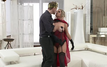 Mature slut Mia Linz in stockings gets fucked in say no to awe-inspiring ass