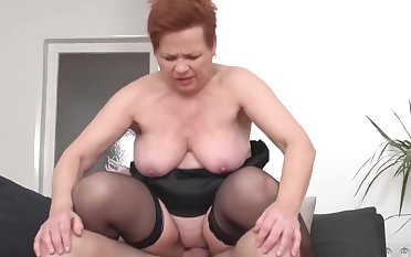 hungry granny catch boy wanking with the addition of be thrilled by him