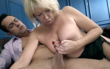 The Private Mature Teacher Rosemary - busty blonde adjacent to chubby irritant screwed