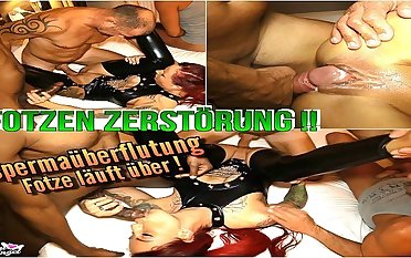Bareback Creampie Gangbang for German Wetlook Teen Anni