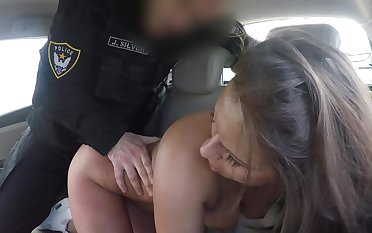 Sexy babe exasperation fucked wits horny functionary hale jizzed