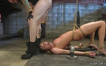 Babe in arms rough flogged and assfucking humped