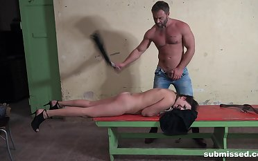 Man spanks his bitch then fucks her pest merciless