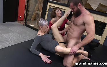 Peculiar threesome the last straw a handsome man and two mature sluts