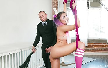 Petite angel loves the wet dong of her man humping her such merciless