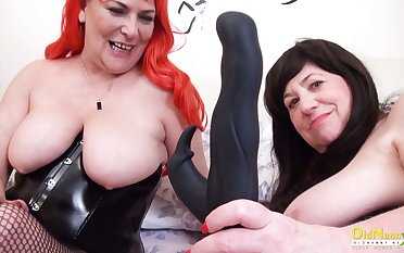 OldNannY Two British Of age Lesbians Together