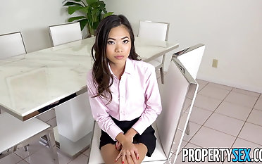 PropertySex - warm japanese real estate agent pummels her manager